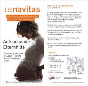 Flyer Aufsuchende Elternhilfe der navitas gGmbH