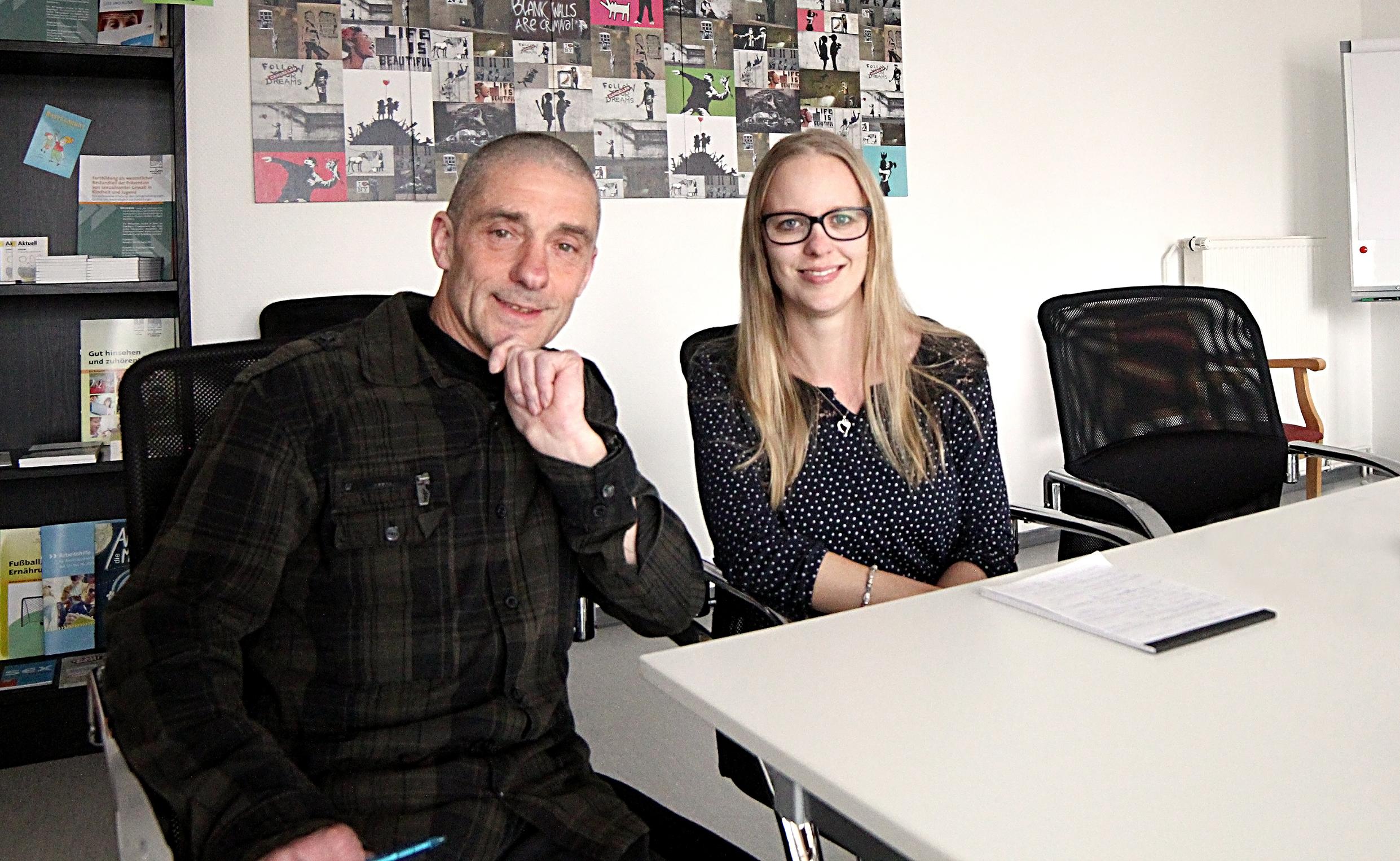 Kristina Sucker, Uwe Schiwek, Koordination des Kinder- und Jugendnotdienstes OHV der navitas gGmbH
