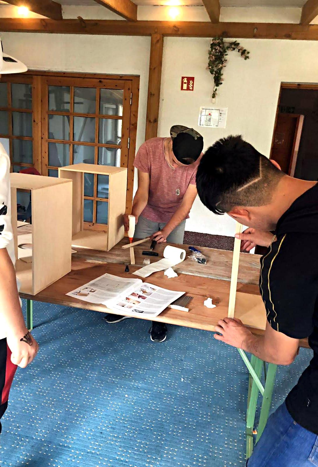 Handwerken in der Stationären Jugendhilfe in Rägelin-Temnitzquell der navitas gGmbH